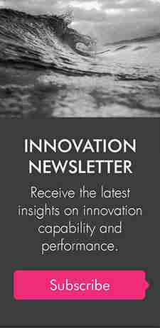 This image shows the Strategy Group Innovation Newsletter, which has key insights into ideation, innovation, design thinking and more