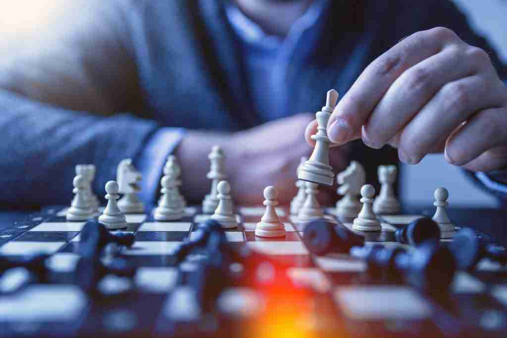 Design Thinking Strategy conveyed through chess photo