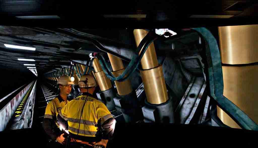 Coal services employees underground
