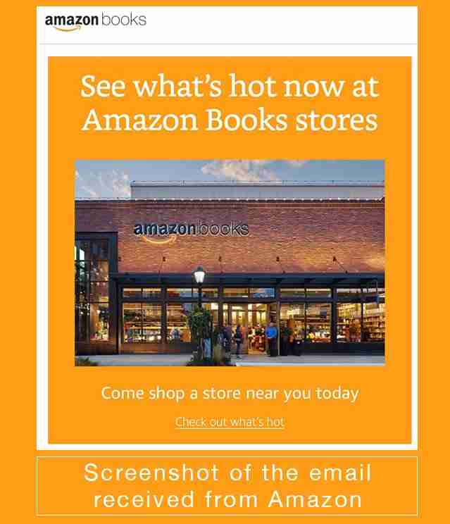 Amazon Bookstore direct email marketing